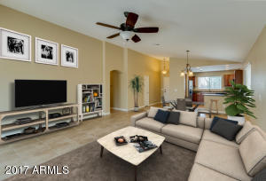 Imagine the possibilities in this great room style home. Open, Bright, Vaulted Ceilings featured in this great room style with gorgeous neutral ceramic tile!