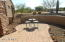 patio in gated courtyard