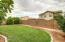 Back yard with room to play and mature fruit trees