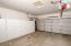 Full size 2 car garage with cabinets
