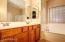 Master bath; double vanity and soaking tub