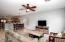 Family room, casual dining and kitchen flow together
