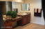 Master Bathroom marble counter with dual sinks.