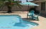 Backyard pool for a refreshing swim on these hot summer days. Pool is newly resurfaced.