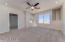 Large spacious suite 3 with new ceiling fan with light and city light views.
