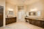 Super spacious master bath with brand new granite and repainted cabinets.