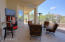 Huge patio with vaulted ceiling.