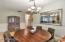 Large kitchen nook!