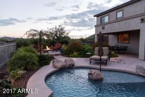 Pool & Fire pit with views at dusk