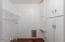 Laundry room and pet door.