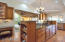 Bright, open kitchen with custom cabinetry