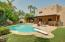 Backyard with Pool and built- in Gas BBQ grill