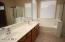 Double sink dressing vanity