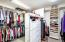 Master closet with built ins.
