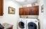 Interior laundry room.