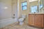 Steel tub with cultured marble surround, Closet