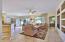 Light bright open floor plan with tile floor