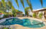 Ramada and house view across pool