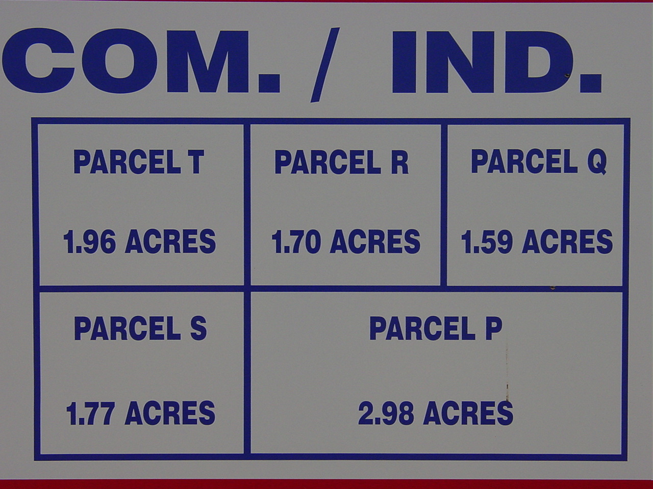 Parcel Map on Sign on Property