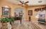 Large Arched Entry Opens To Living Room, Upgraded Ceiling Fan