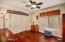 Hard Wood Floors, Crown Molding, Ceiling Fan
