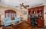 Hard Wood Floors, Custom Shutters, Crown Molding, Ceiling Fan