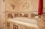 2 Person Jacuzzi Toto Tub, Crown Molding, Travertine Tile