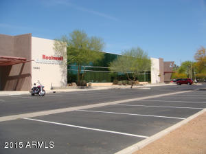 Separate entrances for the two active tenants: Rockwell and CiOX