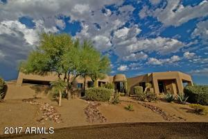 Make your statement with this home in prestigious Desert Highlands Golf Club, gated community.