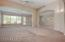 Open great room with high ceilings.