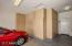 Storage cabinets in garage.