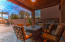 Extended patio can easily accommodate larger groups.