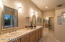 LUXURY MASTER BATHROOM, DUAL SINKS, SNAIL SHOWER, CUSTOM CABINETS