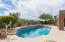 Enjoy your own south facing backyard with private pool with natural space behind for additional privacy.