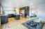 Stunning kitchen features European style cabinets & gorgeous 4CM Calcutta Quartz Counter-tops