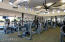 State of the art cardio fitness equipment and personal trainers are available.