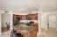 Beautiful Kitchen with Alder cabinets, granite, under and over cabinet lighting-