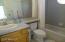 Guest House Bath shower/tub combination.