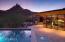 Pool with Jandy power built in swim jets overlooking Pinnacle Peak mountain