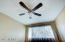 New brushed nickel ceiling fans throughout, with reversible blades
