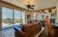 Family room with sliding glass doors to patio and pool/spa area