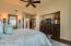 Master suite with oversized furniture niche