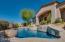 Custom tiled walls on heated salt water pool