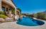 Yard with heated salt water pool