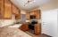 Kitchen with new stainless steel appliances
