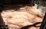 Rear patio tiles with ceramic-porcelain terra tile