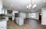 Kitchen, dining, great room