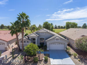 Welcome to your new home in the 55+ community of Arizona Traditions! Home sits on a premium golf course lot overlooking the 6th Fairway and boasts picturesque White Tank Mountain views!