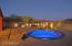 Gorgeous custom entertainer's back yard with spa & fire pit.