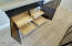 Custom sliding drawers in Kitchen cabinets.